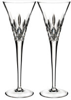 Waterford Crystal Pops Clear Toasting Flutes, Set of 2