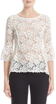 Oscar de la Renta Women's High/low Lace Blouse