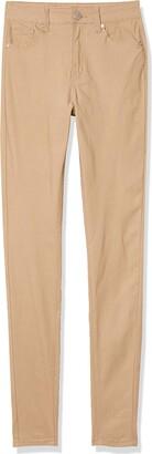 CG JEANS Women's Plus Size Cute Beige Skinny Pants