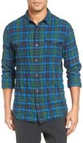 Vince Men's Distressed Plaid Shirt