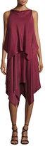 Elizabeth and James Greer Sleeveless Satin Handkerchief Dress, Raspberry