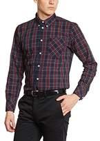 Merc of London Men's Regular Fit Button Down Long Sleeve Dress Shirt