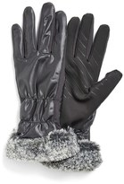 URBAN RESEARCH Women's U|R Tech Faux Fur Cuff Tech Gloves