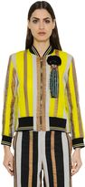Sanchita Embroidered Cotton Organdy Bomber Jacket