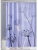 InterDesign Thistle Fabric Shower Curtain, 72 x 72-Inch, Purple/Gray