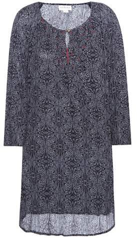 Velvet Yani printed embroidered dress