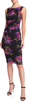 Fuzzi Floral Tulle Mesh Tank Dress