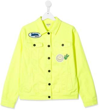 Kenzo Kids TEEN applique denim jacket