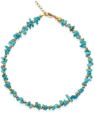 Nialaya Jewelry Turquoise Beaded Choker