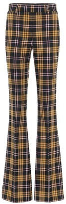 Rebecca Vallance Chateau high-rise checked pants