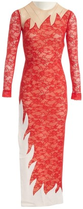 Alessandra Rich Red Synthetic Dresses