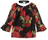 I.N. Girl Big Girls 7-16 Lace Floral Top