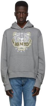 Kenzo Grey Classic Tiger Hoodie