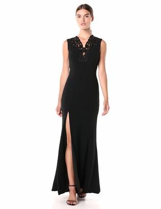 Dress the Population Women's Cassandra Lace Detail Stretch Sleeveless Gown Dress
