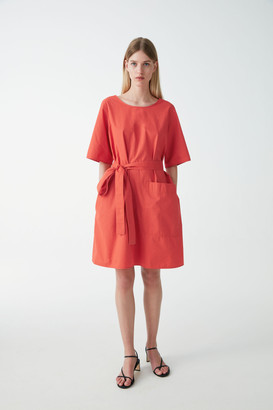 Cos Cotton Dress With Ties