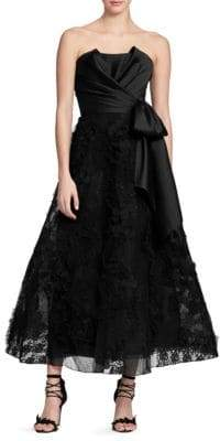 Marchesa Sleeveless Tea-Length Gown