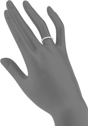 Diana M Bridal 18K White Gold & 1 TCW Diamond Wedding Band Ring
