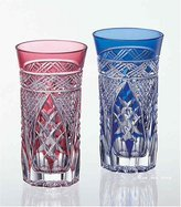 Akio Kagami Crystal Edo Kiriko traditional craftsman Kimura pair sip beer glass # 2624 # 2624 (japan import)