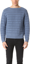 Vince Horizontal Textured Crew Sweater