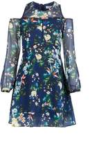 Morgan Cold Shoulder Flower Print Dress