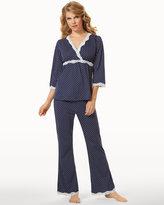 Soma Intimates Belabumbum Nursing Pajama Set Navy Dot