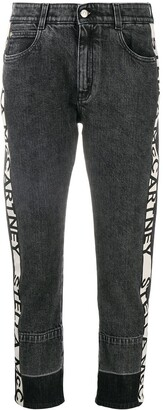Stella McCartney Logo-Stripe Cropped Jeans