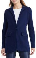 Lauren Ralph Lauren Single-Button Sweater Jacket