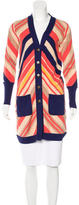 Diane von Furstenberg Striped Long Sleeve Cardigan
