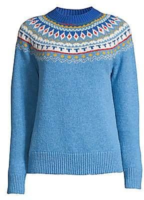 Tory Burch Women's Fair Isle Jacquard Wool Sweater