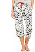 Sleep Sense French Cat-Print Capri Sleep Pants