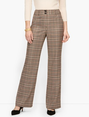 Talbots High Waist Flare Pants - Plaid - Curvy Fit