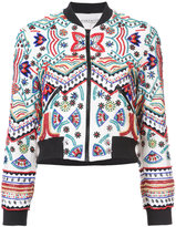 Alice + Olivia Alice+Olivia - embroidered fitted jacket - women - Silk/Polyester/Spandex/Elastane - S