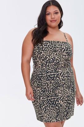 Forever 21 Plus Size Cheetah Print Dress