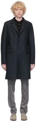 Harris Wharf London Grey Pressed Wool New Chester Coat