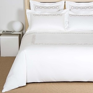 Frette Links Embroidery Duvet Cover, Queen