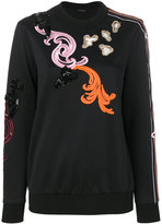 Versace Baroque embroidered sweatshirt