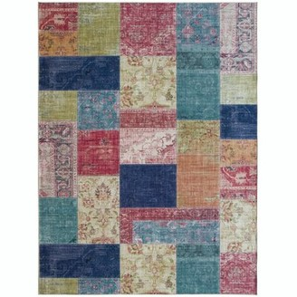 World Menagerie Southmont Patchwork Flatweave Pink/Blue/Green Area Rug Rug Size: Rectangle 3' x 5'