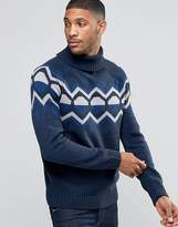 Bellfield Christmas Jacquard Geometric Knitted Jumper