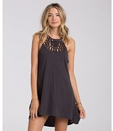 Billabong Junior's Happy Place Halter Dress with Macrame Detail