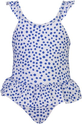 Snapper Rock Skirted Polka Dot One-Piece Swimsuit