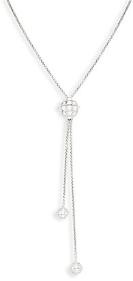 Charles Krypell Ball Sterling Silver 18K Yellow Gold Y-Necklace
