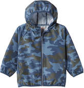 Joe Fresh Toddler Boys' Camo Rain Jacket, Dusty Blue (Size 2)