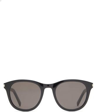 Saint Laurent Round Acetate Sunglasses - Black
