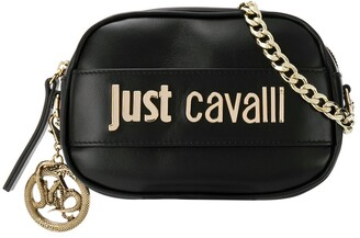 Just Cavalli logo plaque cross body bag