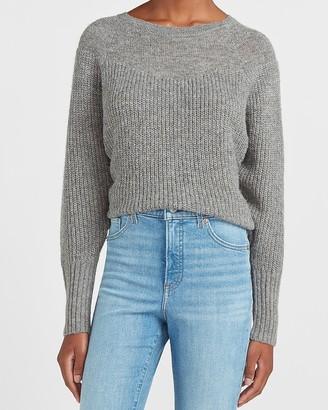 Express Metallic Dolman Sleeve Crew Neck Sweater