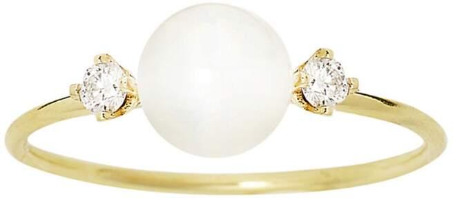 Sweet Pea Diamond Pearl Ring