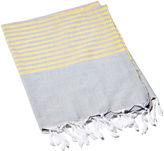 Turkish T Stripy Breeze Towel, Yellow