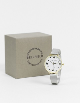 Bellfield watch two tone silver and gold bracelet watch