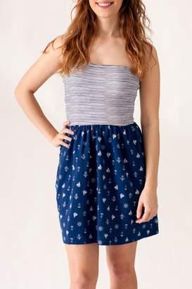 Ocean Drive Nautical Print Dress
