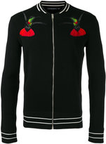 Alexander McQueen bird embroidered knit - men - Wool - M